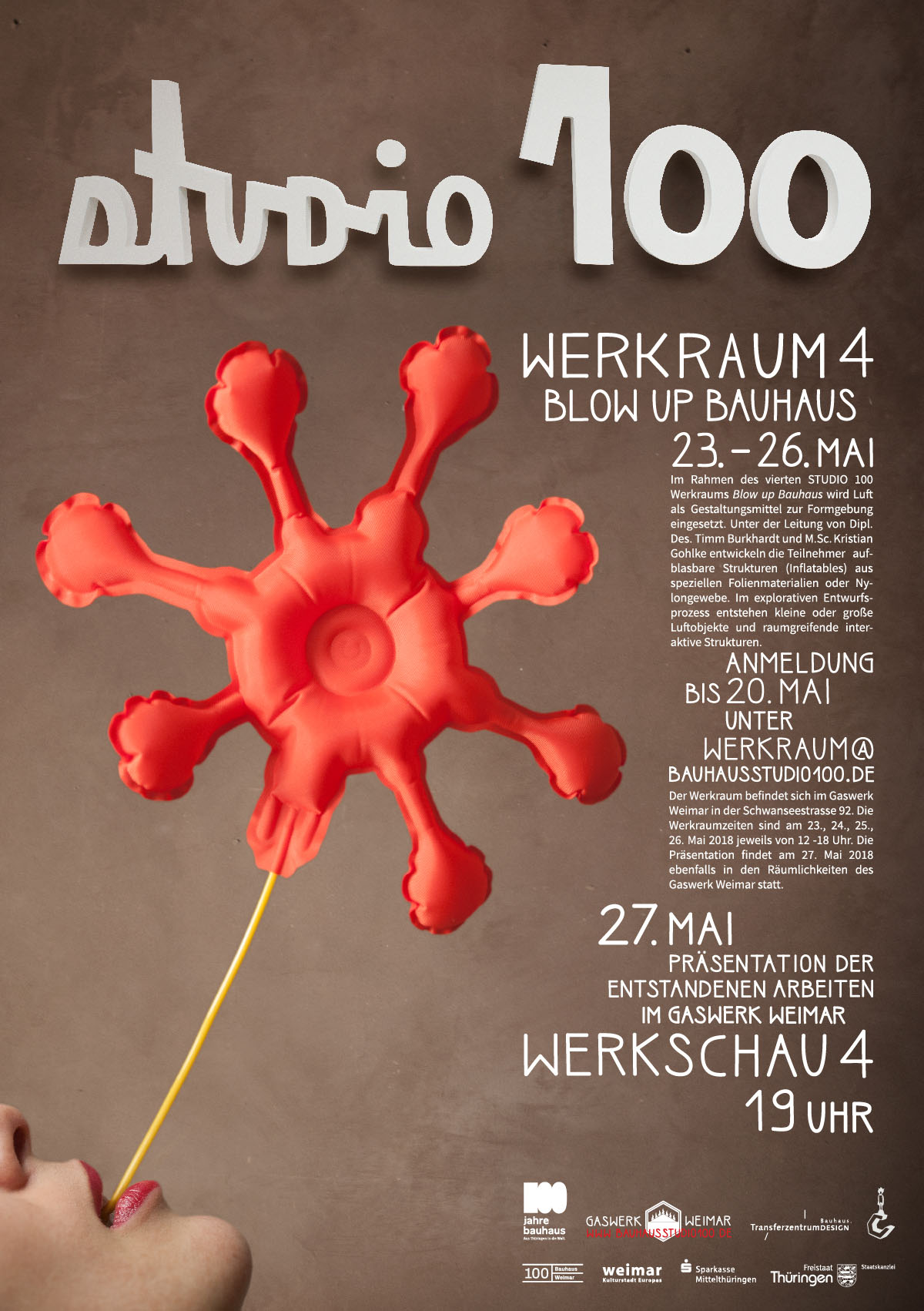 Bauhaus Studio 100 – Werkraum 4: Blow up Bauhaus ...