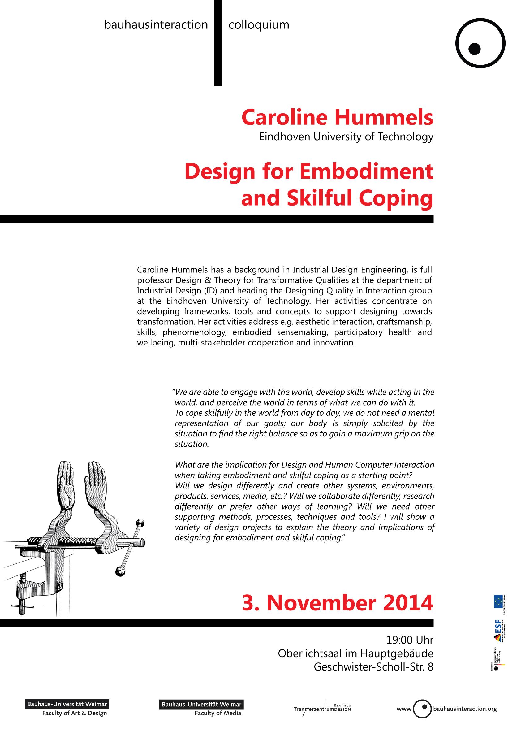 Talk: Caroline Hummels