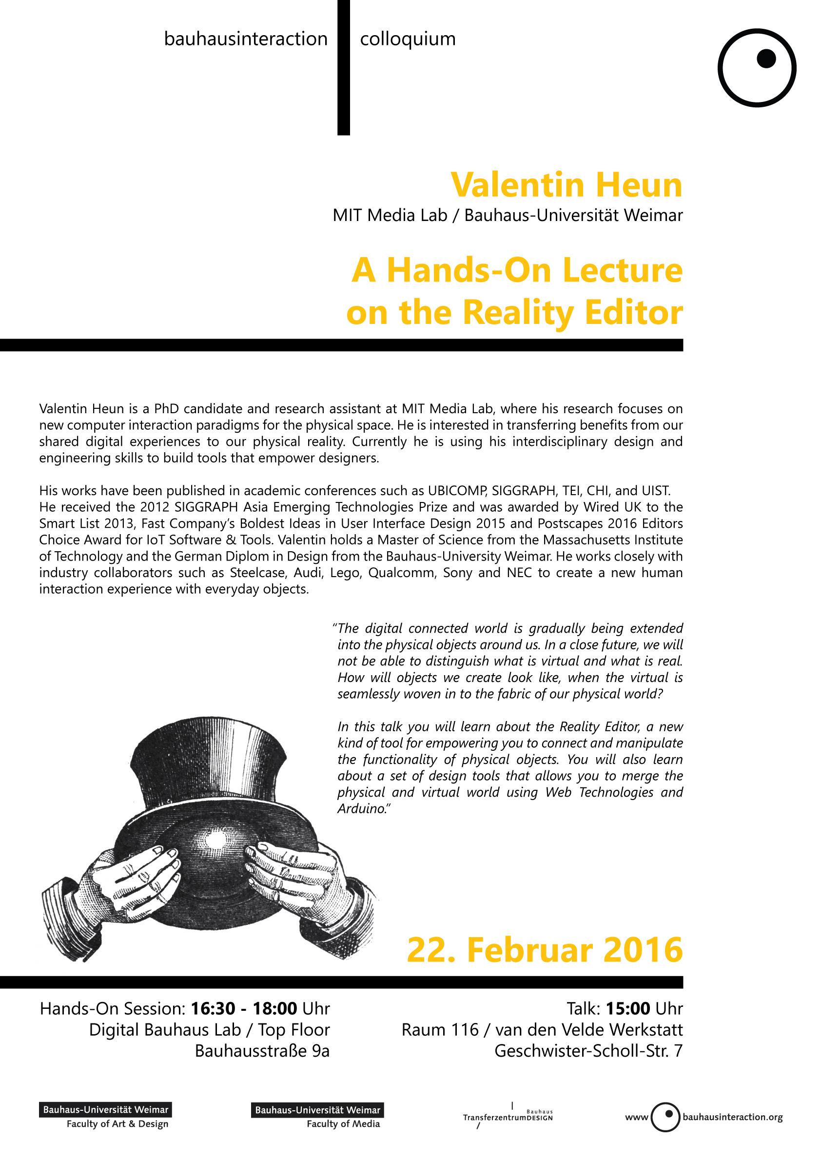 Talk Valentin Heun